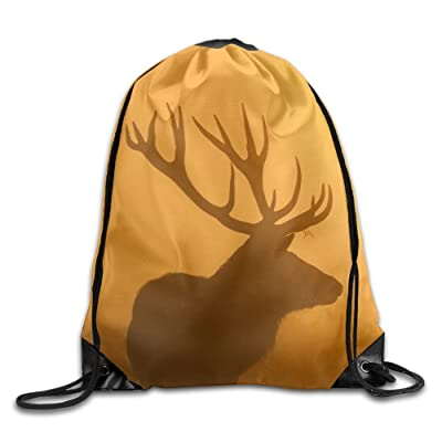 055f88356fe 70%OFF Deer Silhouette Packable Print Drawstring Bags Travel Backpack Gym  Bags For Gift