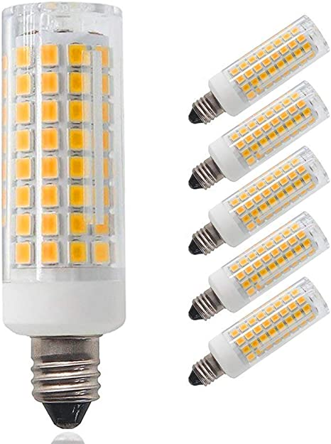 JD T3//T4 360 Degree Beam Angle for Indoor Decorative Lighting. E11 LED 5-Pack 850 LM Warm White 3000K E11 Led Bulbs 100W Equivalent Dimmable,E11 Mini Candelabra Base