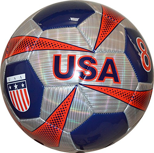 (Vizari USA Soccer Ball, Silver/Navy, Size)