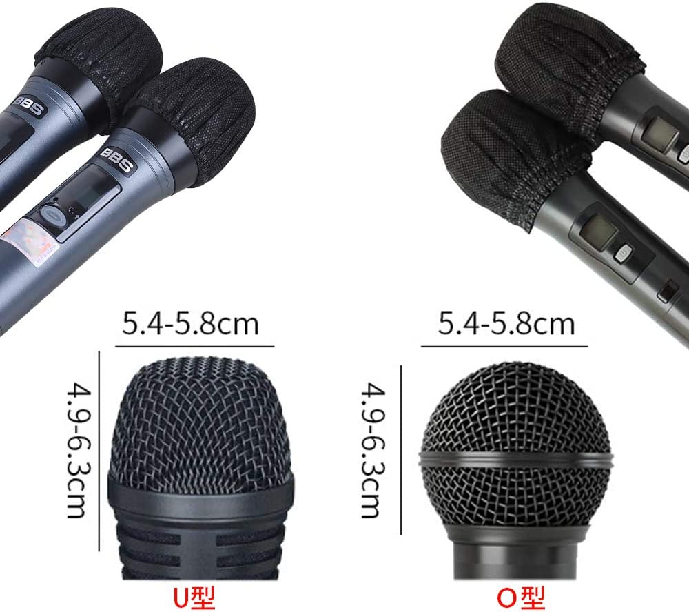 200 Pack Disposable Microphone Cover Non-Woven Microphone Cover Handheld Microphone Cover Protective Cap for Ktv Recording Room Gathering