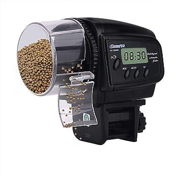HomdMarket LCD Alimentador Automático de Peces, Dispensador de Comida Acuario, Alimentador Automático de Peces