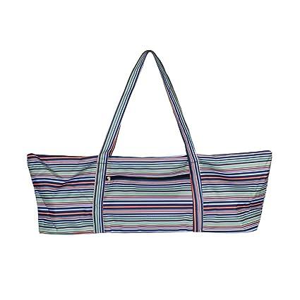 Amazon.com: Yoga Mat Bag Tote Stripes Outdoor Ladys Bag ...