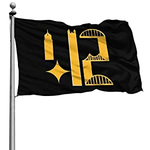 Pittsburgh Skyline 412 4 X 6 Ft Garden Flag Fashion Uv Protection Flags Indoor And Outdoor Decor Banners