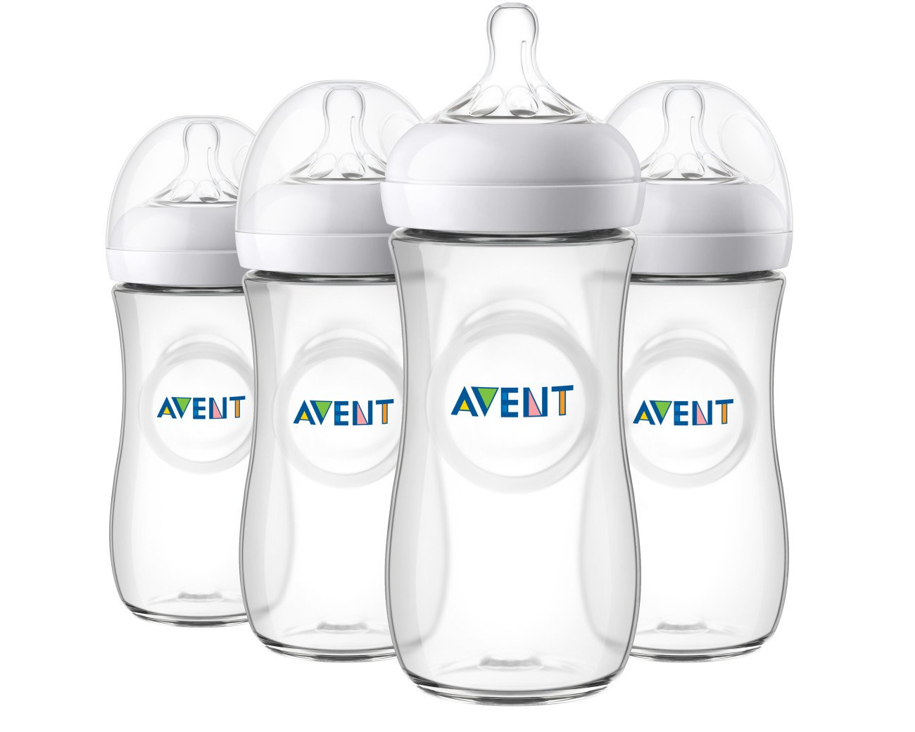 Philips Avent Natural Baby Bottle, Clear, 11oz, 4pk, SCF016/47 by Philips AVENT