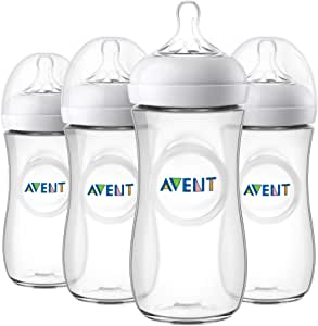 Philips Avent Natural Baby Bottle, Clear, 11oz, 4pk