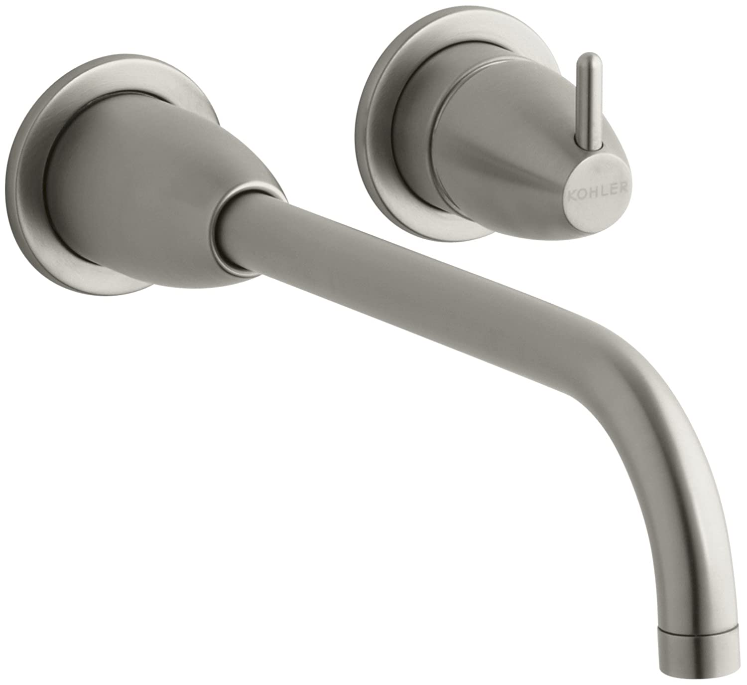 lever single faucet brushed bathroom handle wall faucets with mount nickel nisartmacka com