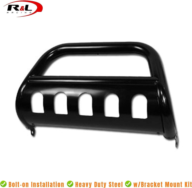 R/&L Racing Black Heavy Duty Bull Bar for 2007-2009 Jeep Wrangler JK All Models Brush Push Front Bumper Grill Grille Guard