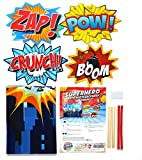 Superhero Cityscape Photography Backdrop and Studio Props DIY Kit. Great as Super Hero City Photo Booth Background - Birthday Party and Event Decorations