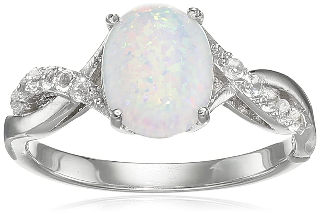 Sterling Silver Created Opal Ring RS2347O-6-Parent