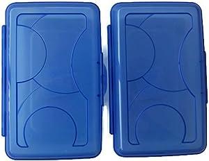 Sterilite Blue Transparent Pencil Case Box Set of 2