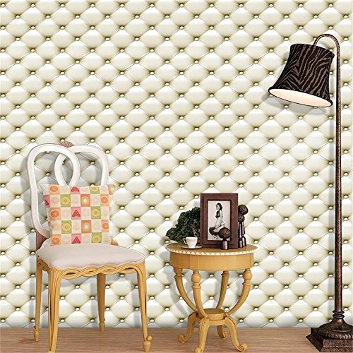 Cheap  Gloous 3D Vintage Leather Textured Wallpaper PVC Mural Realistic Look Waterproof Faux..