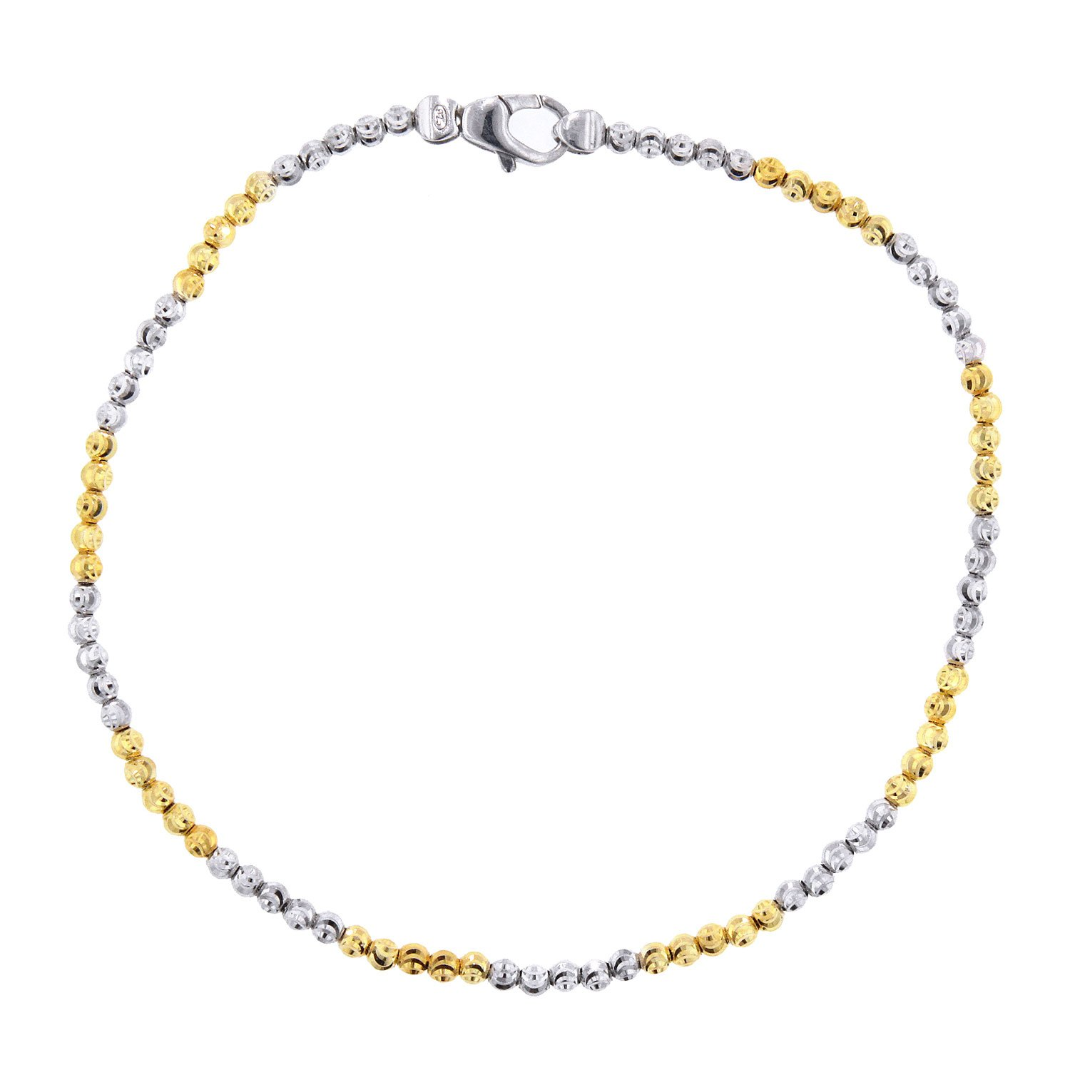 Officina Bernardi Sterling Silver and Yellow Anklet, 10''