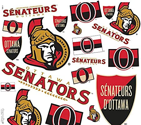 Tervis 1259433 NHL Ottawa Senators All Over Tumbler with Wrap and Black with Gray Lid 24oz Water Bottle Clear