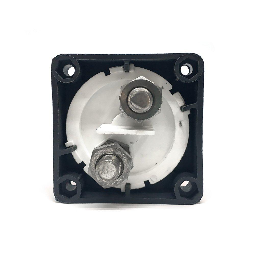wiwir Interruptor para aislamiento de bater/ía 12 V//24 V 200 A extra/íble clave//pomo energ/ía de la bater/ía Cut Off interruptor