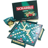 Scrabble Original Board Game for Family (ALW), card game for children adults, gift for boys girls, English Scrabble Board Game and Travel puzzle for Building Words