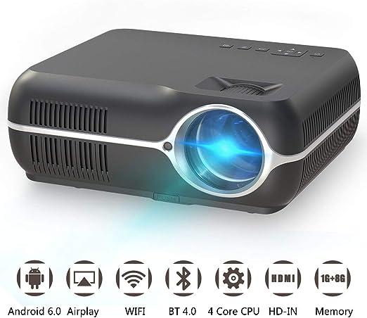 AI LIFE Proyector de Video casero Proyector de Cine en casa ...