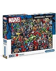 Clementoni Adult Puzzle, Pussel 1000 Omöjliga Marvel, 14-99 år, Pussel för vuxna, 39411