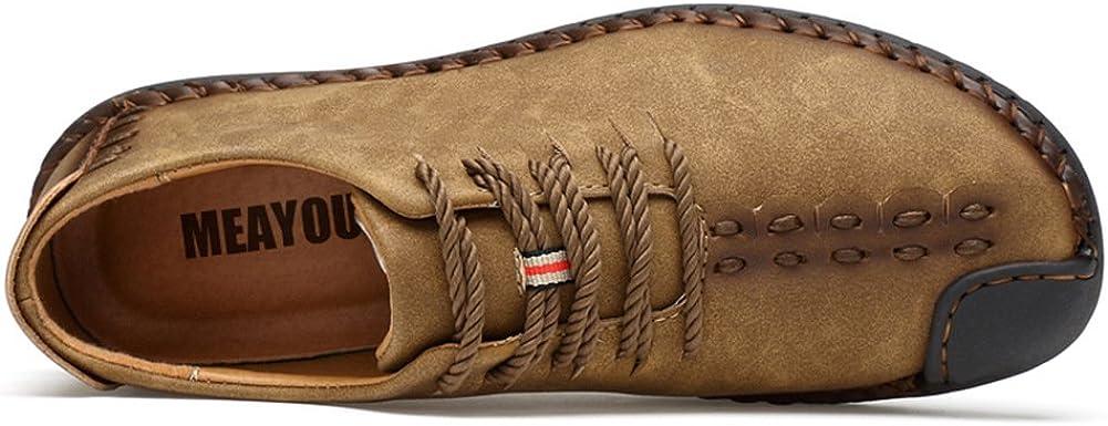 Zapatos de cuero casual de los hombres Zapatos Planos con Cordones hombre Oxford vestido mocasines zapatos de negocios hechos a mano mocasines de conducci/ón de zapatos