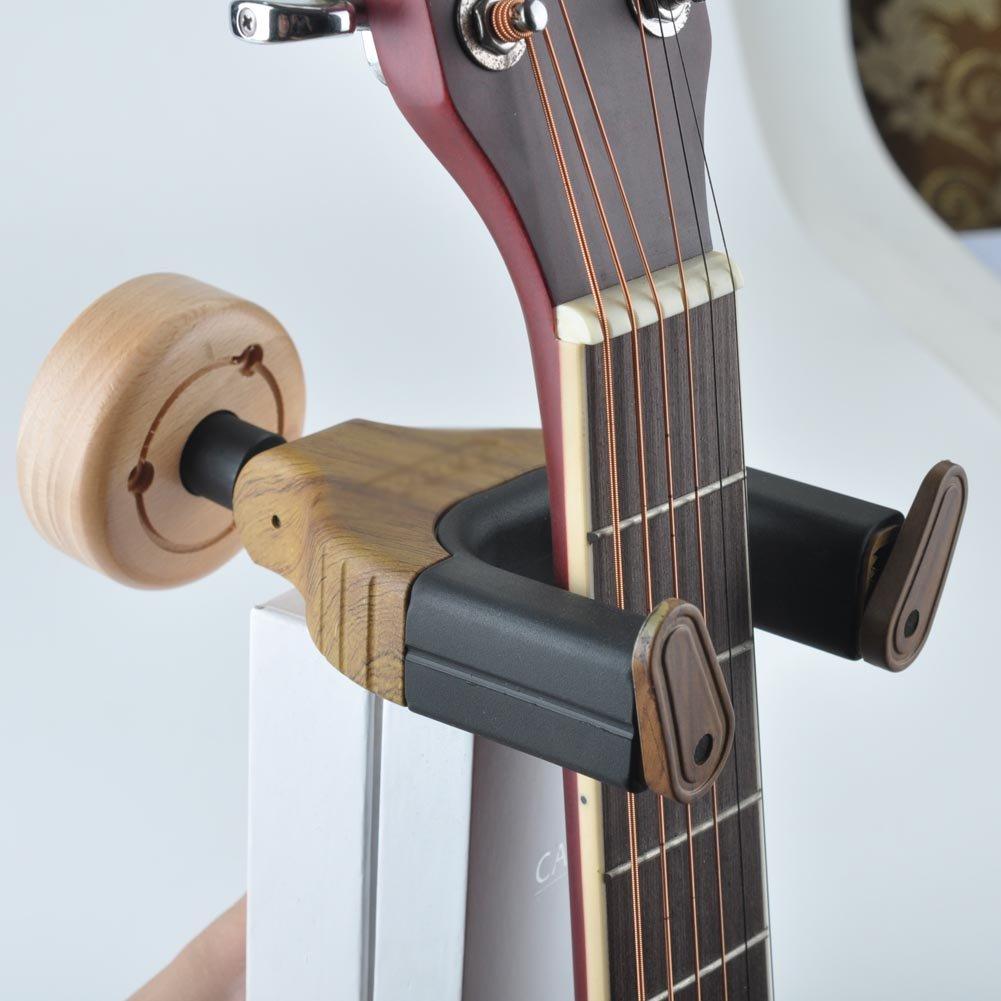 Zimo® Stands Wallmount Guitar Hanger Auto Grip System Lock Slatwall Auto Lock Short Guitar Hanger 10806408