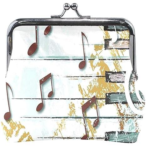 Olive Croft Monedero Abstract Music Note Cartera para Mujer ...