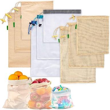 Reusable Grocery Shopping Bag Eco Friendly Fruit Vegetable Nylon Mesh String Bag