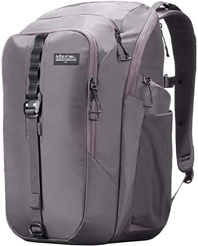 ROKA Commuter Pack Laptop Backpack – Perfect for School, Travel, or Work – Meets International Carry-On Standard Wolf Grey