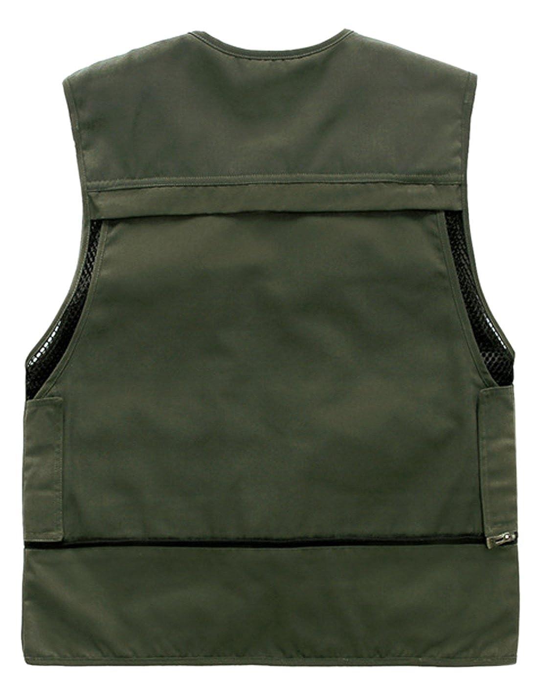 Gihuo Mens Outdoor Safari Travel Fishing Pockets Vest