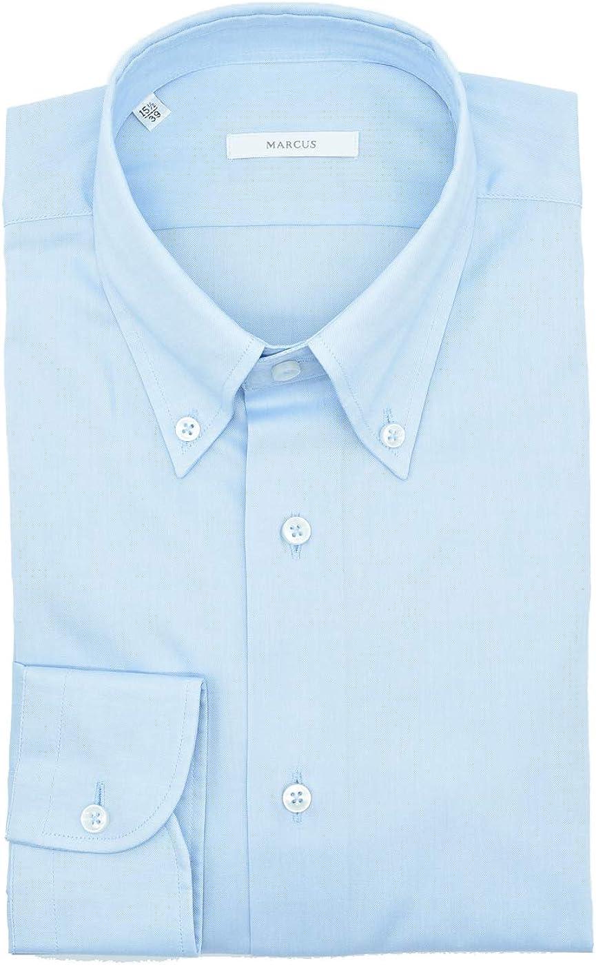 Marcus - Camisa de hombre Celeste Twill Button Down: Amazon ...