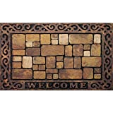 #7: Apache Mills 60-732-1449-18x30 Masterpiece Aberdeen Welcome Door Mat, 18-Inch by 30-Inch