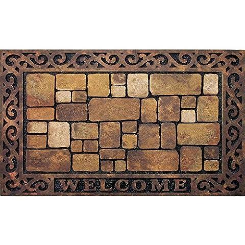 Masterpiece Aberdeen Welcome Door Mat, 18-Inch by 30-Inch - Love Door Mat