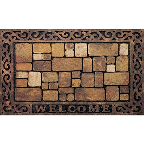 Masterpiece Aberdeen Welcome Door Mat, 18-Inch by 30-Inch (Welcome Outdoor Mat)