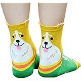 Gotd Women's Animal Pattern Casual Cotton Socks 1 Pair Xmas Gift