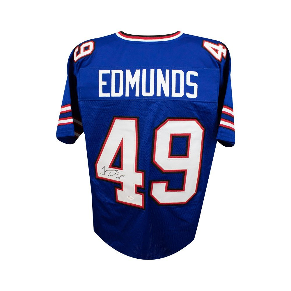 8145140a279 Tremaine Edmunds Autographed Buffalo Bills Custom Blue Football Jersey -  JSA COA at Amazon's Sports Collectibles Store