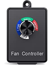 Hon&Guan Variable Dial Router Centrifugal Inline Duct Exhaust Fan Speed Controller