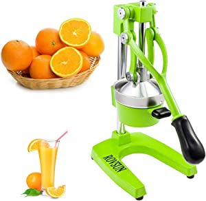 ROVSUN Commercial Grade Citrus Juicer Hand Press Manual Fruit Juicer Juice Squeezer Citrus Orange Lemon Pomegranate (Green)