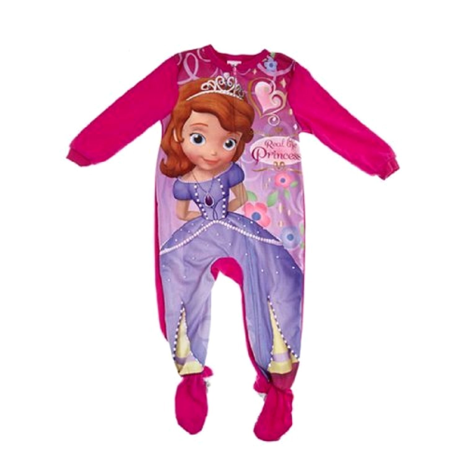 Disney Princess Sofia The First Toddler Girl Footed Blanket Sleeper Pajama (4T)