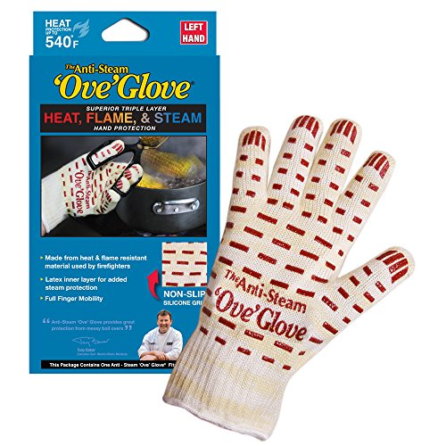 'Ove' Glove, Anti-Steam, Hot Surface Handler Oven Mitt/Grilling Glove, Left Hand, Perfect For Kitchen/Grilling, 540 Degree Resistance, As Seen On TV Household Gift by Ove Glove