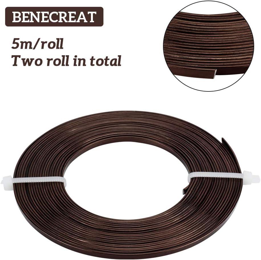 Chocolat fonc/é Benecreat Fil plat en aluminium anodis/é pour fabrication de bijoux et de perles 3 mm 3 mm.