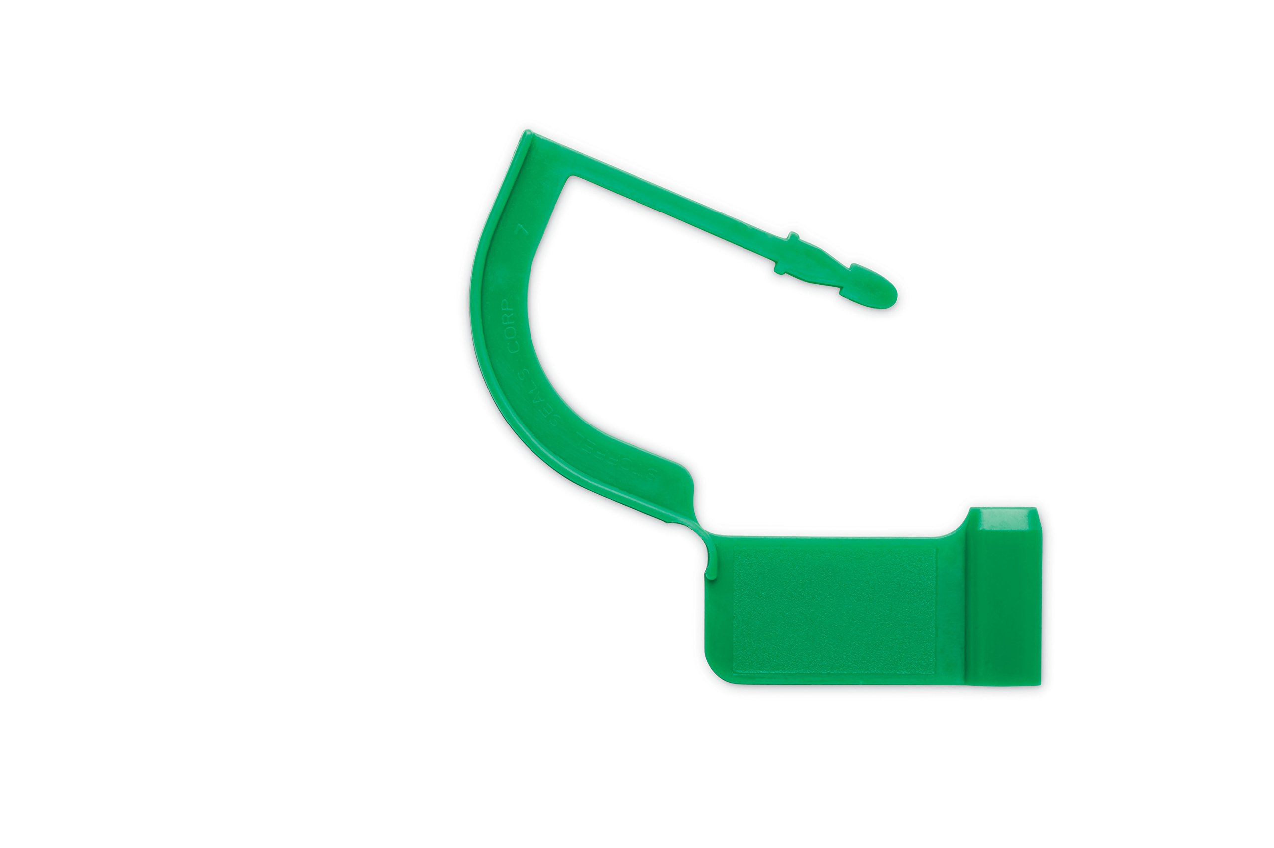 Key Surgical LT-003-1000 Case Locking Tag, Green (Pack of 1000)