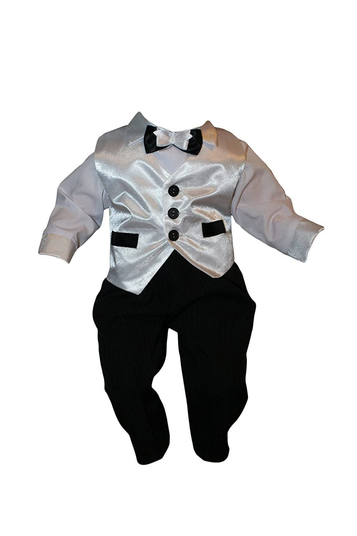 bianco nero Vestito da festa 5 Pz. Baby bambino Bambini bambino battesimo vestito Abiti Sposa K12 Vestito per Battesimo Completo per Bambino