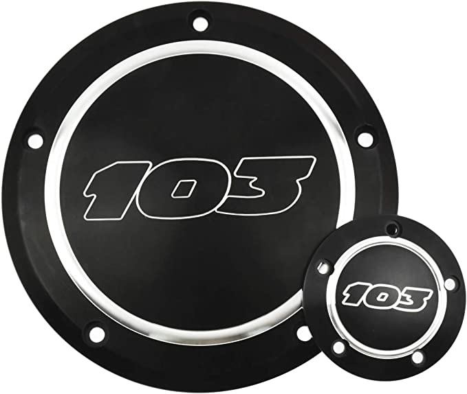 YHMTIVTU Motorcycle Derby Timing Cover Timer Cover Point Cover for Harley 1999-2016 Dyna Softtail Touring,Chrome with Black Letters