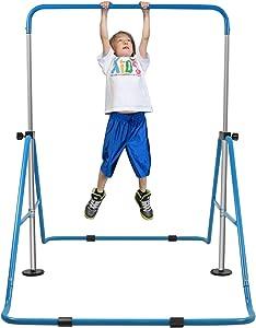 YEEGO DIRECT Expandable Gymnastics Bar, Folding Horizontal Kip Bars Junior Premium Gymnastic Equipment Monkey Climbing Tower Home Training for Kids