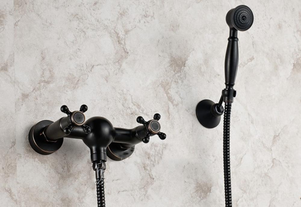 SAEKJJ-European Antique Copper Black Double Simple Ceramic Wall ...