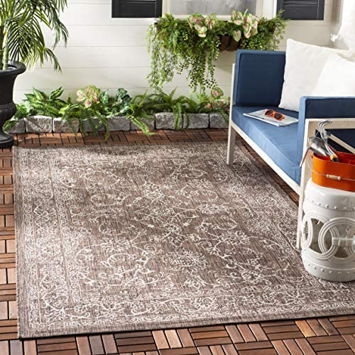 Safavieh Courtyard Collection CY8680-36321 Brown and Ivory 9 x 12 Area Rug
