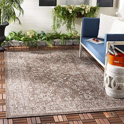 Safavieh Courtyard Collection CY8680-36321 Brown and Ivory 5 3 x 7 7 Area Rug, 5 3 x 7 7