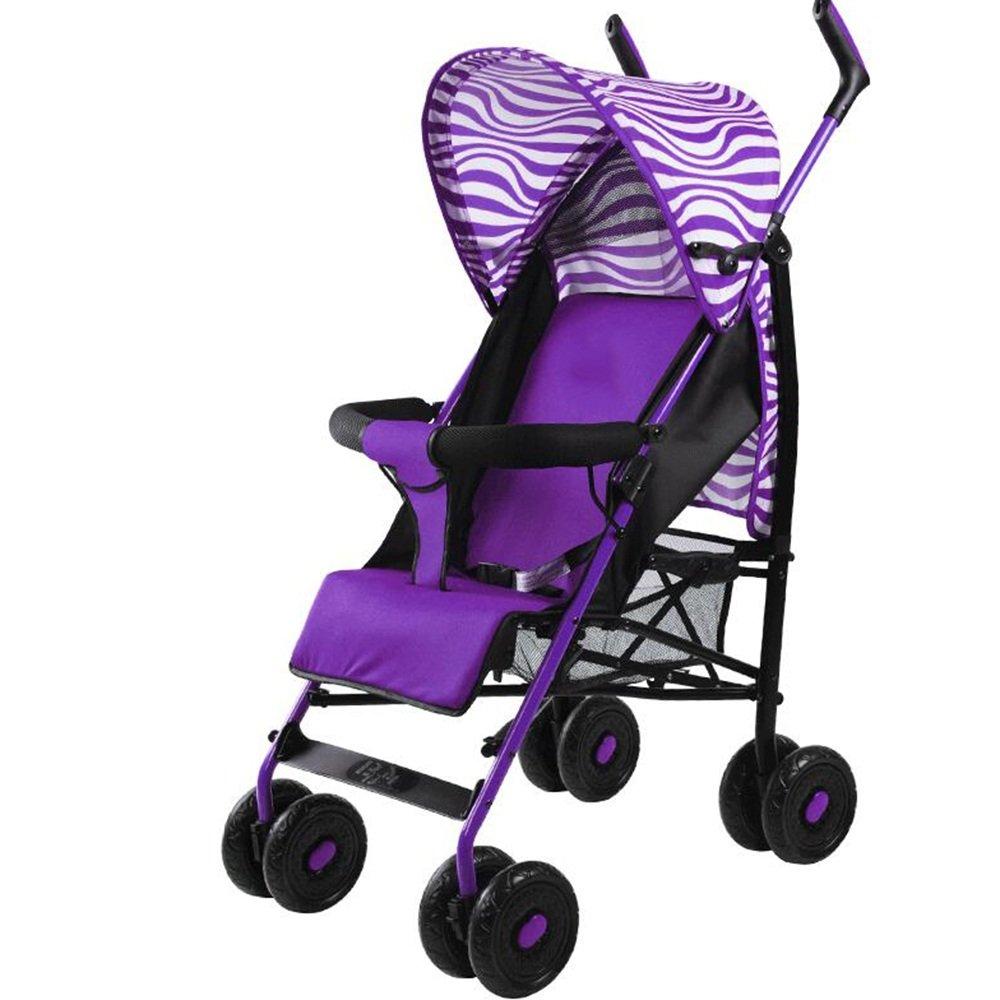 HAIZHEN マウンテンバイク 多機能乳母車折りたたみ式軽量で持ち運びが簡単座席リクライニング 新生児 B07CG9TCW8パープル ぱ゜ぷる