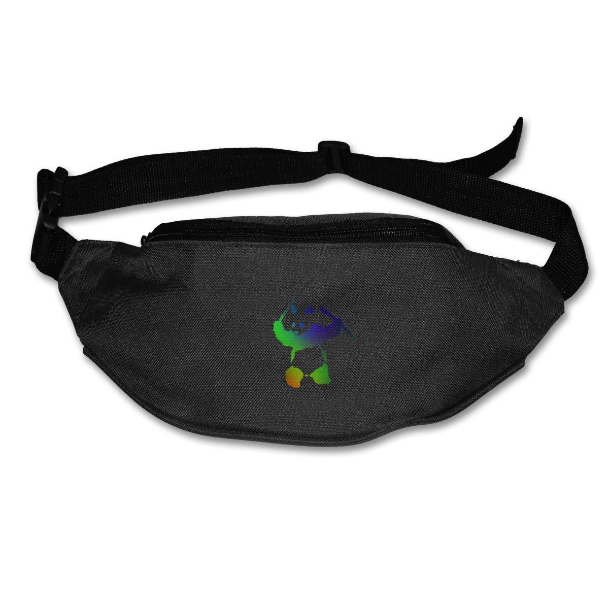 Colorful Panda Sport Waist Bag Fanny Pack Adjustable For Hike