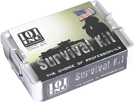 34-teilig Überlebensset EXTREM Notfallset wasserdichte Box SOS Survival Outdoor