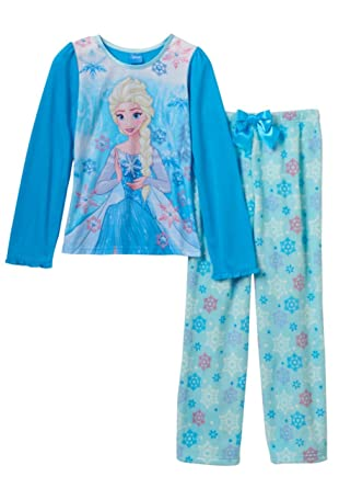b49a4ff0f Amazon.com  Disney Frozen Girls Elsa Two-Piece Pajamas (Multi