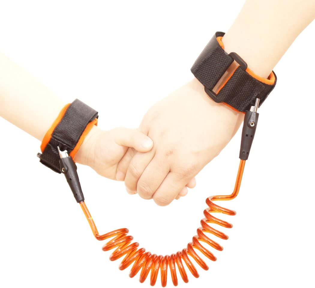 bleu et orange Xiaoyu 2 couleurs brosse anti-perte de b/éb/é 1.5mm harnais pour enfant tout-terrain rotation /à 360 degr/és